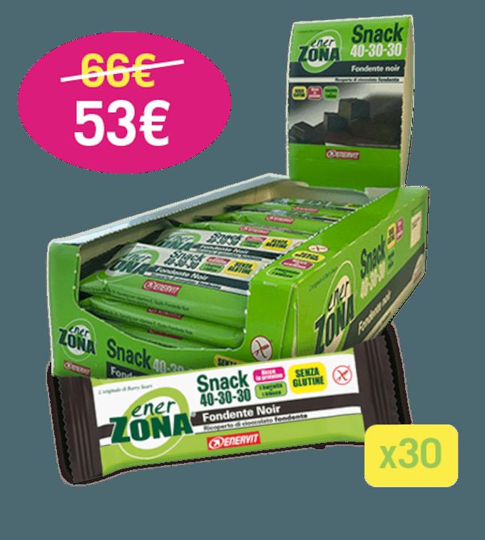 ENERZONA SNACK 40-30-30 FONDENTE NOIR