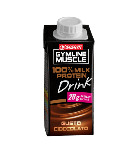 ENERVIT GYMLINE MUSCLE 100% MILK PROTEIN DRINK GUSTO CIOCCOLATO - Chocolate Brown