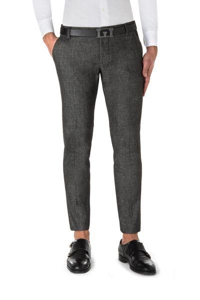 Black micro-patterned American pocket short  trouser