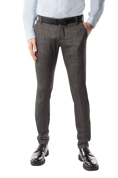 Black  long cotton trouser with American pocket