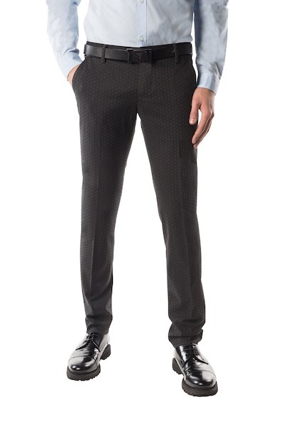 Long wool trouser with American pocket