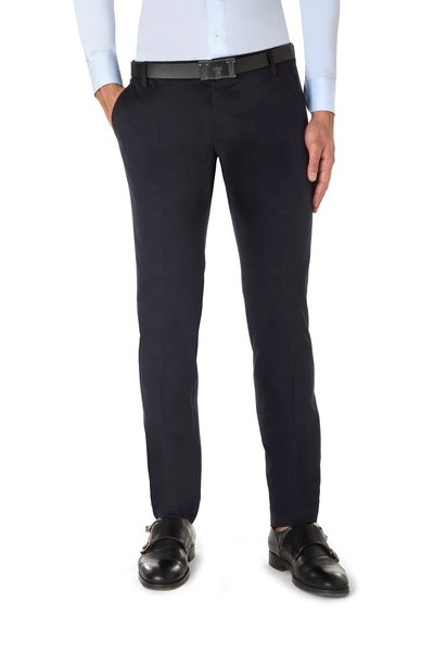 Dark blue American pocket long trouser