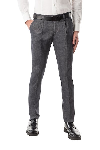 Long linsey-woolsey trouser with American pocket and pences