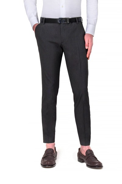 Short dark grey American pocket pants