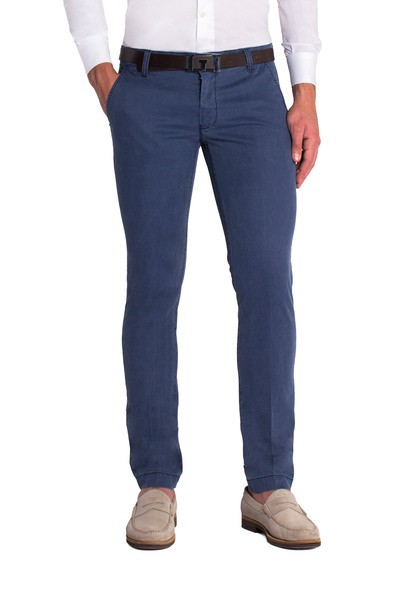 Blue long slant trouser