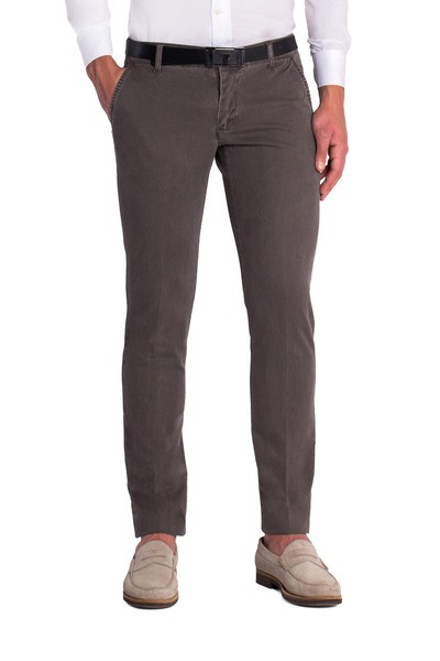 Brown long slant trouser