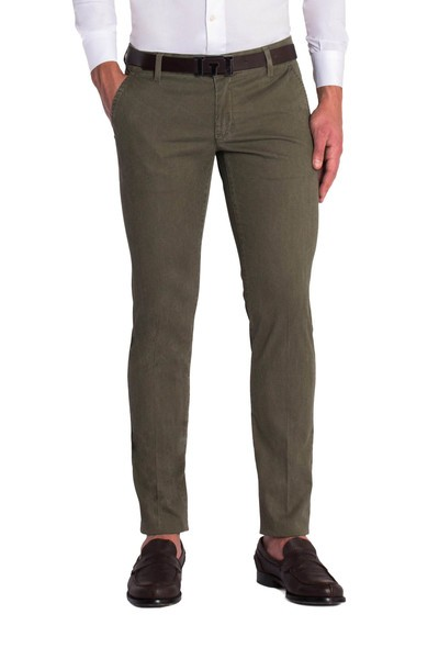 Green Olive long slant trouser