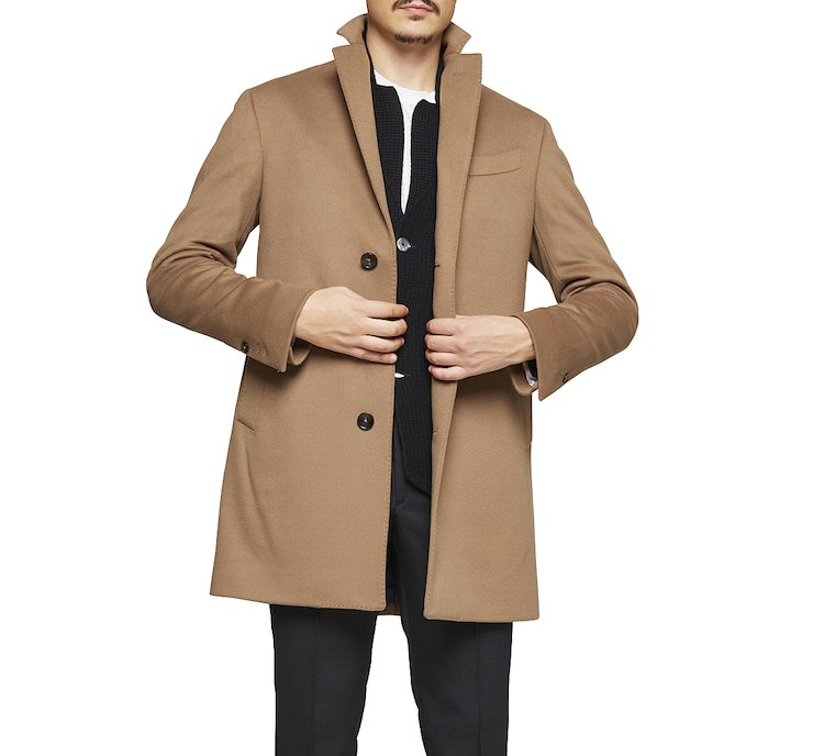 Warm wool tailored fit coat