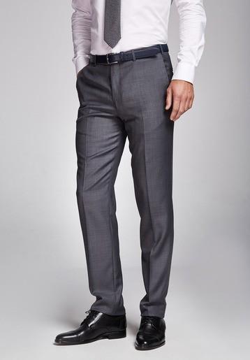 Pantalón lana regular gris