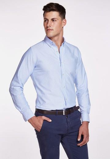Camisa algodón oxford topos