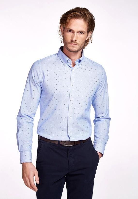Camisa algodón fantasía regular