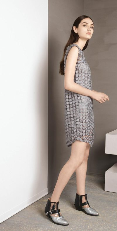 Squared silver dress