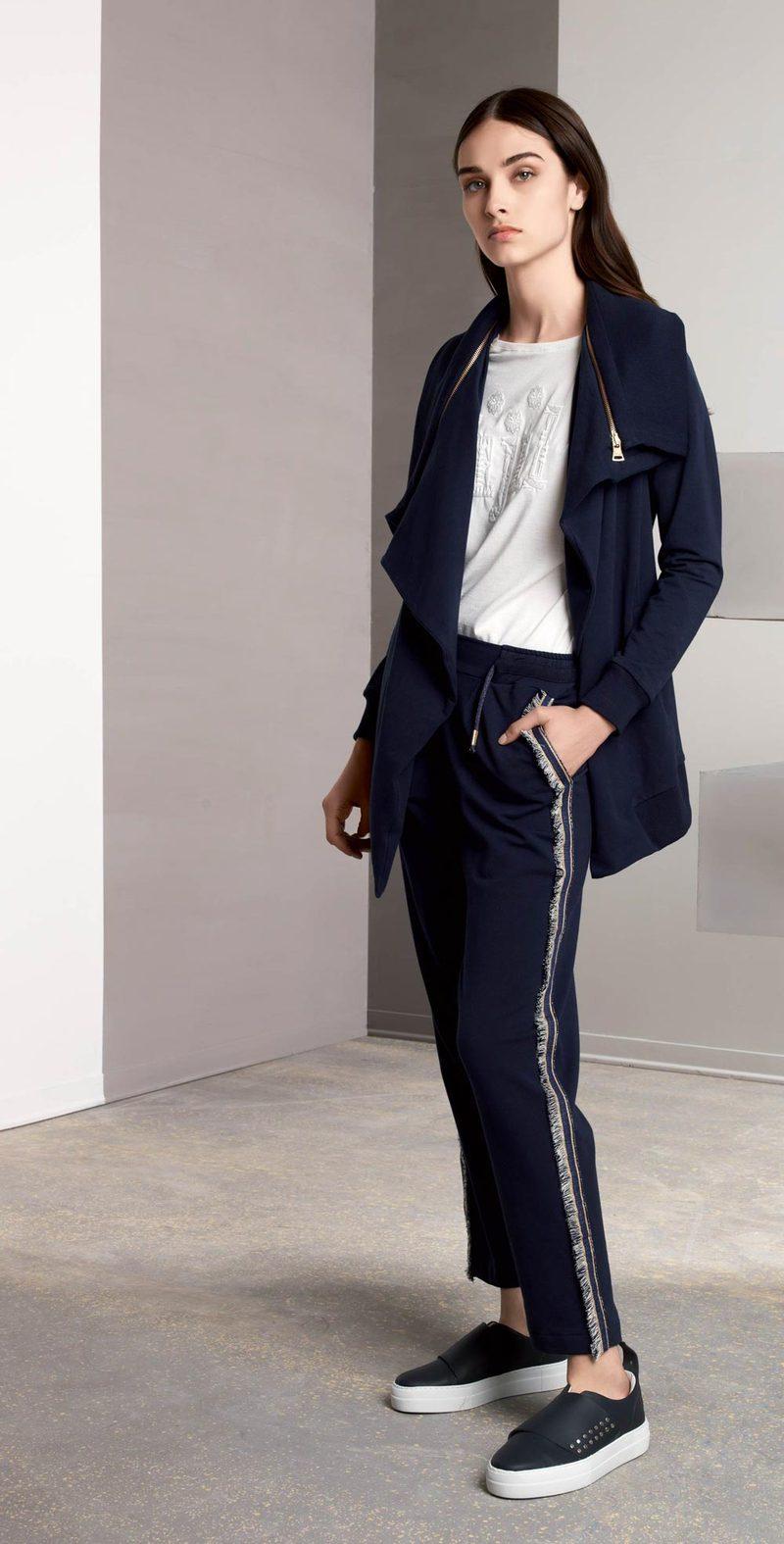 Blue jacket with zip