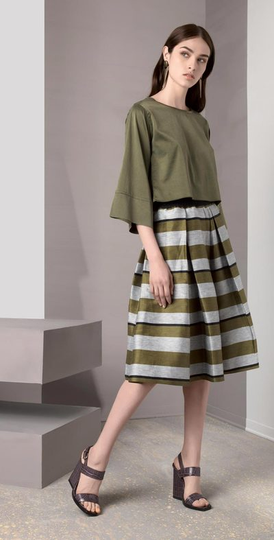Green large pencil skirt