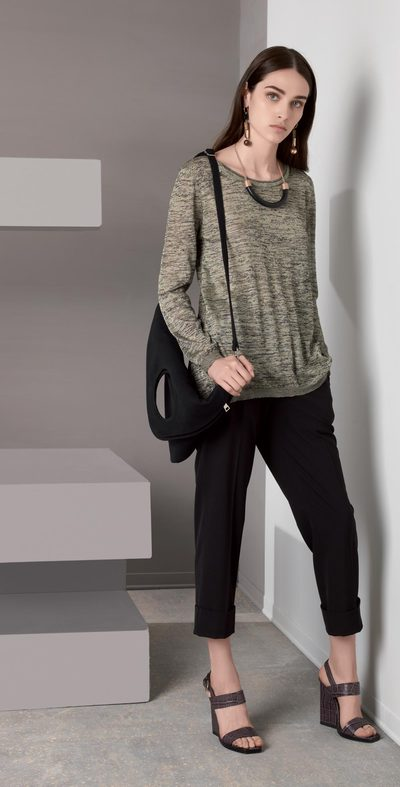 Black pants with fold