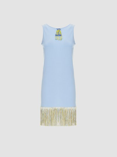 Dress with fringe and beads embroidery