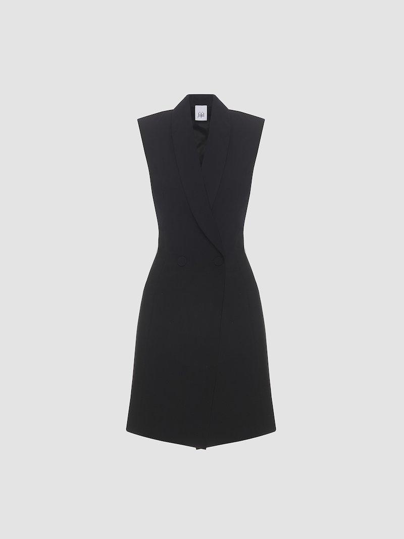 Short dress with lapels