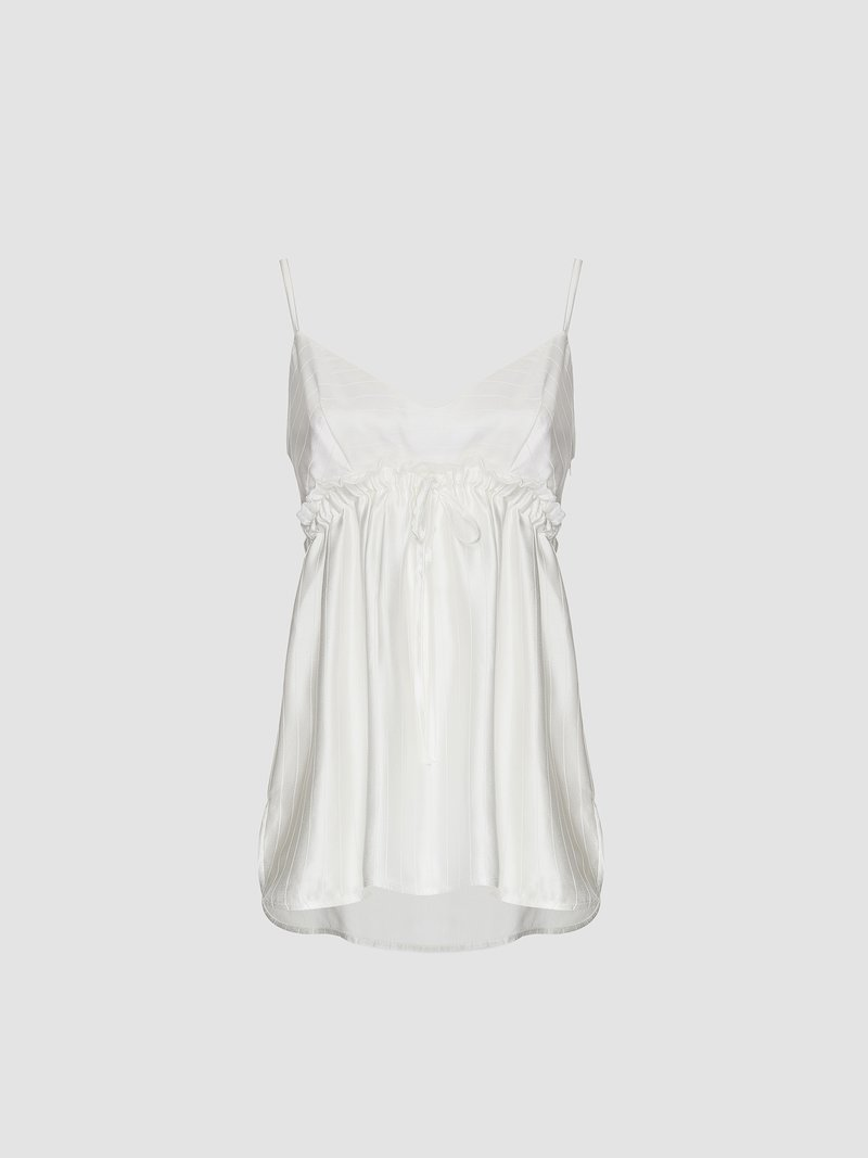 Tank top in chalked satin