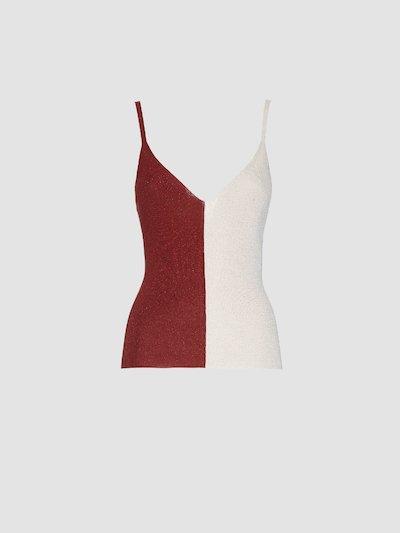 Two-tone lurex t-shirt