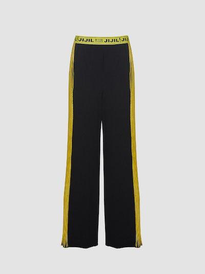 Pantaloni con banda laterale in plisse'