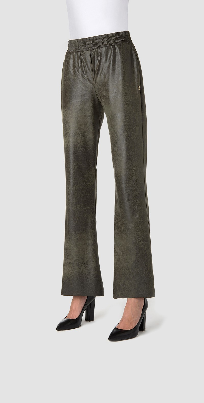 Elasticated waist forest trousers