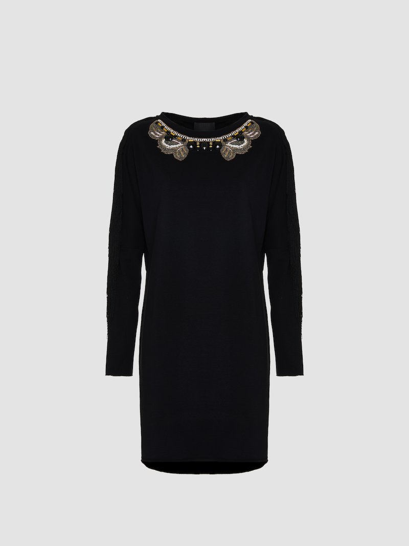 Dress with jewel embroidery