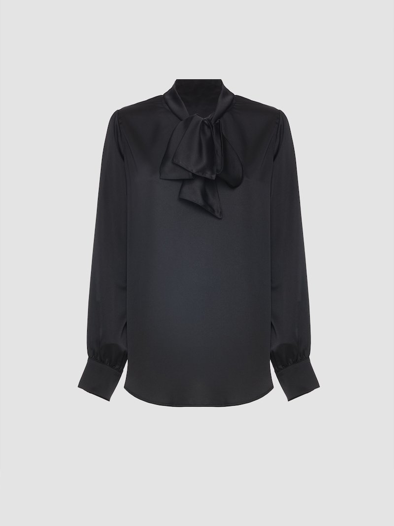 Shirt with front ruffles