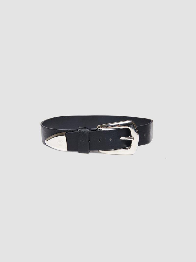 Belt with metal detail