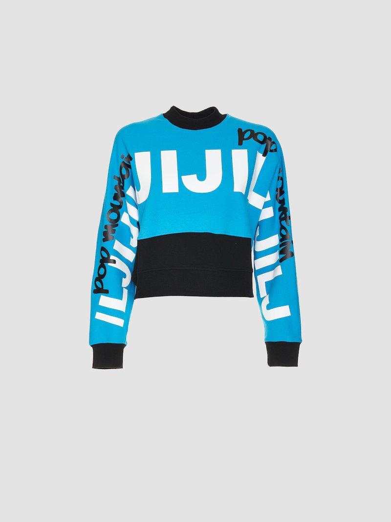 Bicolor sweatshirt with print