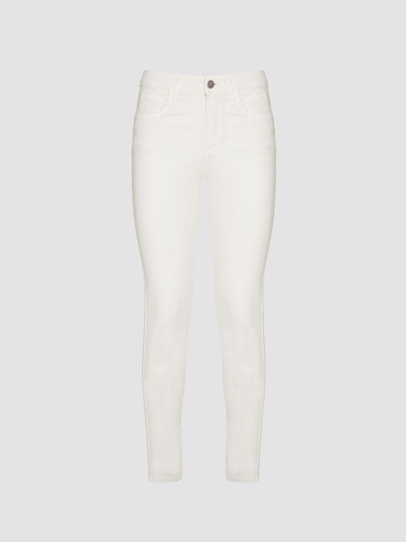 Short-legged skinny fit trousers