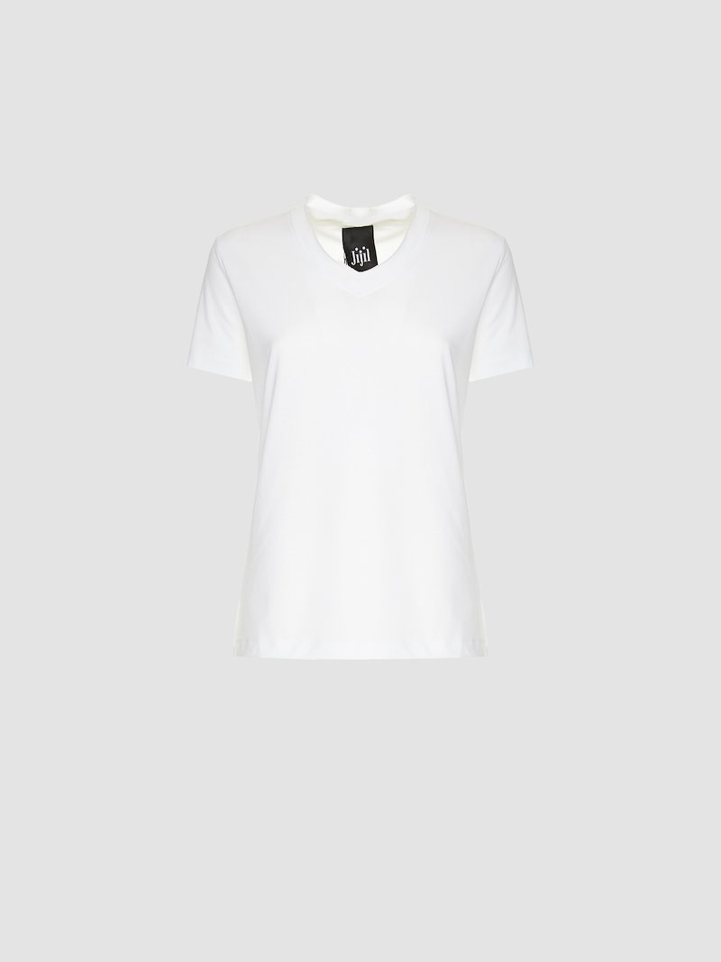 T-shirt with Jijil lettering print