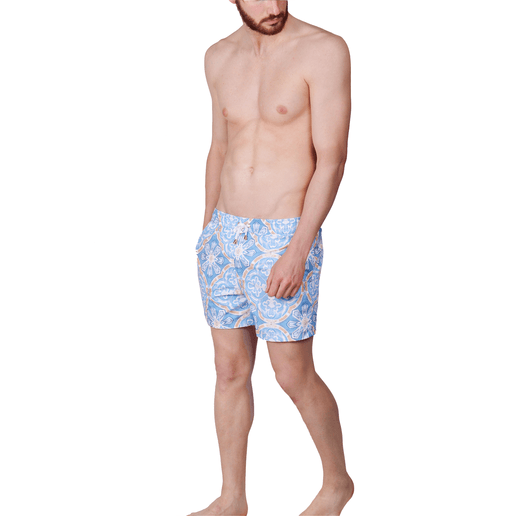 SWIMSHORTS BLUE TILE
