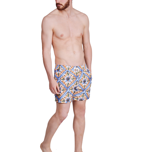 SWIMSHORTS FLOWER TILE