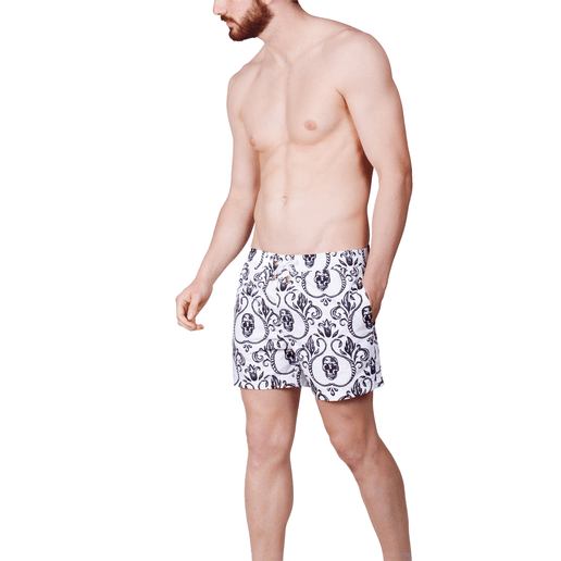 SWIMSHORTS SKULLS WHITE VERSION