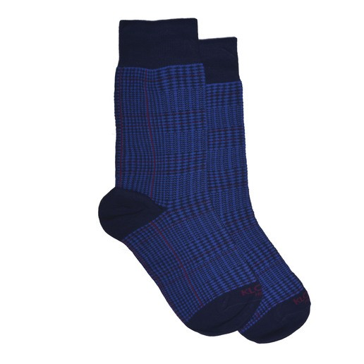 GLENCHECK BLU AND RED SOCKS