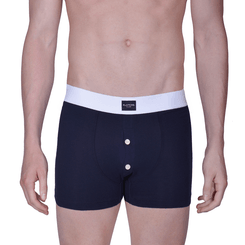 BLUE BOXER  BRIEFS WITH BUTTONS