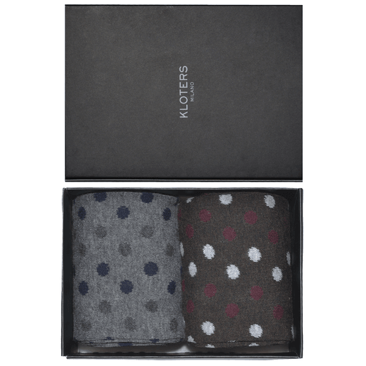Bordeaux and grey polka dots socks pack