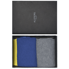 Blue and grey solid cotton socks pack