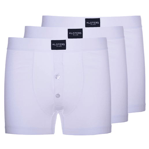 White boxer briefs  with buttons pack