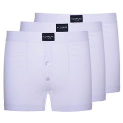Pack boxer parigamba con bottoni bianco