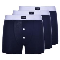 Pack boxer parigamba con bottoni blu
