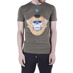 T-SHIRT GREEN MONKEY