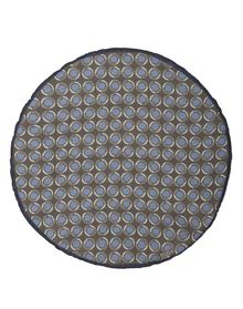 Pure wool and silk printed handkerchief - Round shape