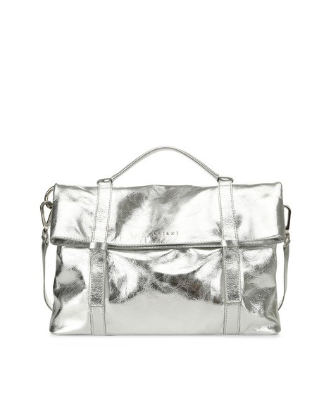 Orciani METALLIC LEATHER HANDBAG