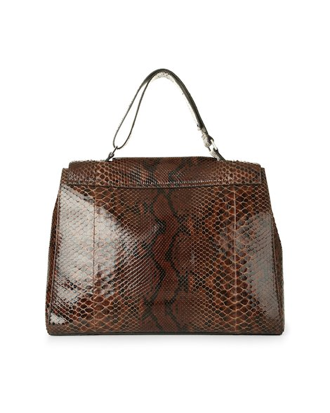 Orciani DIAMOND PYTHON LEATHER SVEVA BAG