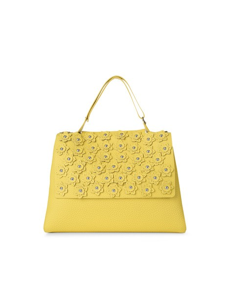 Orciani SOFT FLOWER LEATHER SVEVA BAG