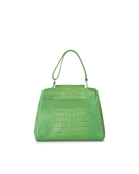 Orciani COCCO CROCODILE EMBOSSED LEATHER SVEVA BAG
