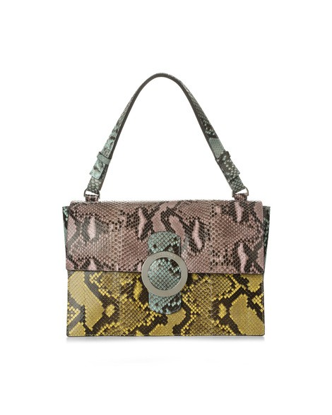 Orciani DIAMOND PYTHON LEATHER BAG