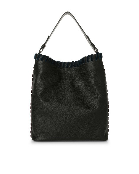 Orciani ETHNIC SOFT LEATHER BUCKET BAG