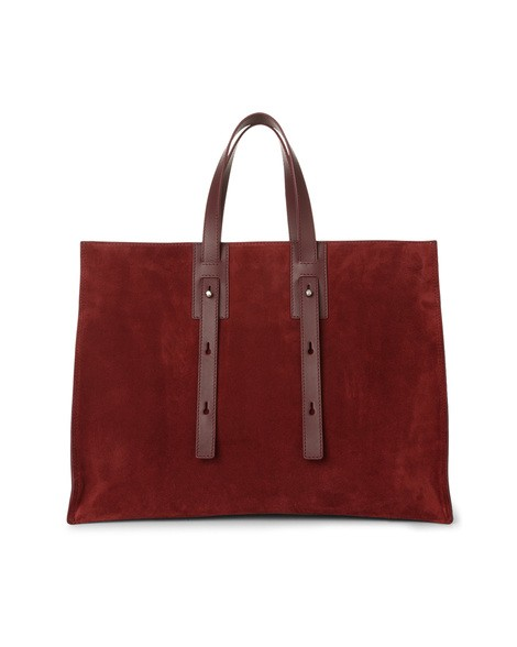 Orciani CASHMERE LEATHER AND SUEDE BAG